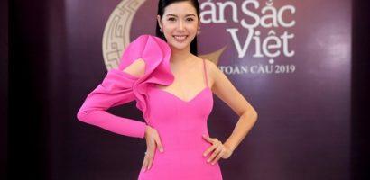 Á hậu Thúy Vân rạng rỡ, xuất hiện trong vai trò mới tại Hoa hậu Bản sắc Việt Toàn cầu 2019