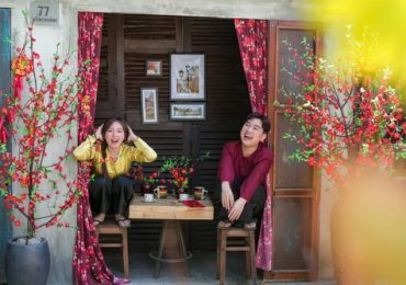 Don Nguyễn mặc áo bà ba bên diễn viên Như Quỳnh đón Tết