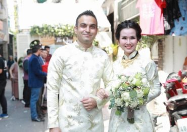 Võ Hạ Trâm rạng ngời hạnh phúc bên đại gia Ấn Độ trong lễ rước dâu