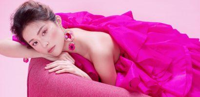 Hạ Vy đẹp mong manh trong sắc hồng của Đỗ Mạnh Cường