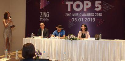 Top 5 'Zing Music Awards 2018': Hương Tràm, Erik và JustaTee dẫn đầu bình chọn