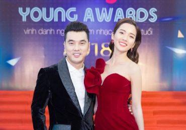 Ưng Hoàng Phúc và Kim Cương tình tứ trên thảm đỏ 'Keeng Young Awards 2018'