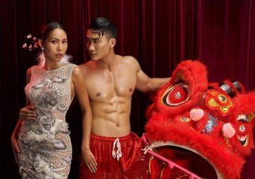 Hoa hậu Trương Hằng khoe vòng 3 bốc lửa bên Nam vương Lương Gia Huy
