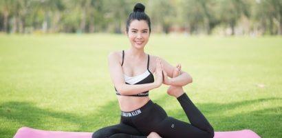 Hoa hậu Huỳnh Vy chia sẻ bí quyết luyện tập yoga để có chỉ số 'vàng'