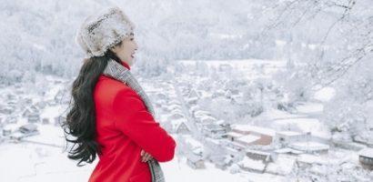 Ngọc Diễm tận hưởng cái lạnh âm độ tại Nhật Bản