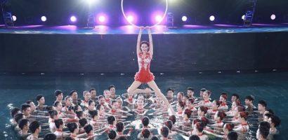 Mỹ nhân 'Xích Bích' gây choáng ngợp khi múa dưới nước chào năm mới