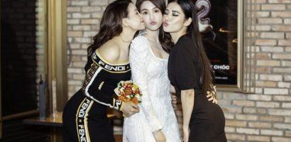 Hà Thu, Trà Ngọc Hằng xúng xính quần áo dự lễ ra mắt phim của Ngọc Trinh