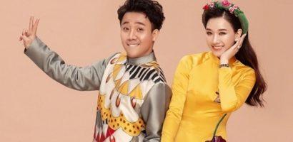 Hari Won tình tứ cùng Trấn Thành trong bộ ảnh mừng tuổi mới đón Xuân 2019