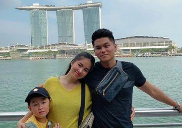 Lê Phương du hí Singapore cùng chồng và con trai