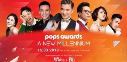 Giải thưởng Pops Awards trở lại với phiên bản đặc biệt 'A new millennium'