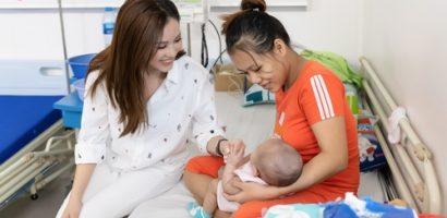 Hoa hậu Thu Hoài chia sẻ nỗi vất vả với người mẹ trẻ, một mình chăm con nhỏ mang bệnh nặng