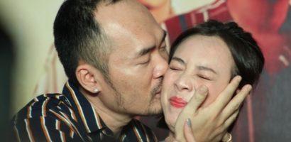 Tiến Luật bất ngờ 'cưỡng hôn' Thu Trang trong cinetour 'Chị Mười Ba'