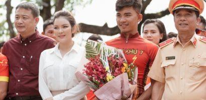 Lý Nhã Kỳ tham dự sự kiện 'Cuộc đua xe đạp về Điện Biên Phủ 2019'