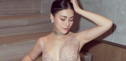 Hoa hậu Phương Khánh quyến rũ từng centimet với bộ váy cắt xẻ sâu táo bạo