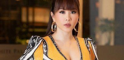 Hoa hậu Thu Hoài mặc váy xẻ sâu quyến rũ tại sự kiện