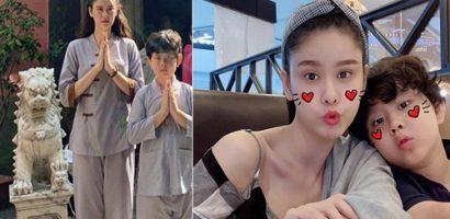 Con trai Trương Quỳnh Anh gây bất ngờ khi cao lớn gần bằng mẹ