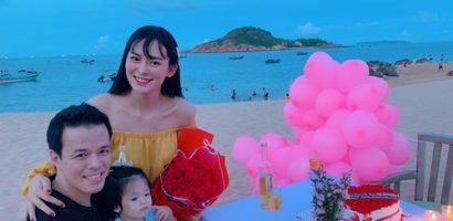 Người đẹp Sang Lê bất ngờ với tiệc kỉ niệm ngày cưới của ông xã đại gia