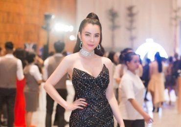 Hoa hậu Huỳnh Vy diện đầm cúp ngực gợi cảm