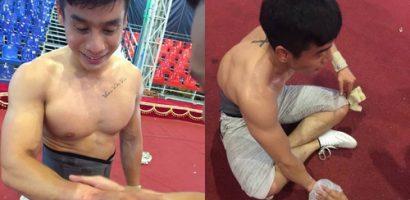 Nam vương Cao Xuân Tài gặp tai nạn khi tập luyện xiếc trên cao