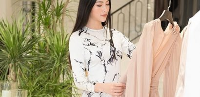 Trước khi qua Mỹ chấm thi Miss Earth 2019, Phương Khánh vội vã đi thử váy áo