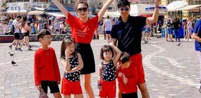 Gia đình vàng Lý Hải – Minh Hà dắt nhau đi du lịch Hy Lạp suốt mùa hè