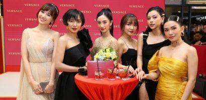 Dàn sao nữ V-biz thích thú với mùi thơm nam tính của Versace