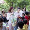 BTC Festival cầu Long Biên cùng các nghệ sĩ làm từ thiện tại chùa Bồ Đề