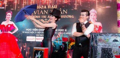 Hoa hậu Vivian Trần trổ tài làm ảo thuật khiến khán giả thót tim