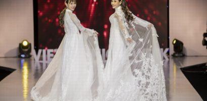Thúy Diễm – Diệp Bảo Ngọc bắt tay nhau làm vedette, trình diễn áo dài của NTK Minh Châu
