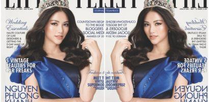 Phương Khánh vinh dự được lên bìa tạp chí danh tiếng