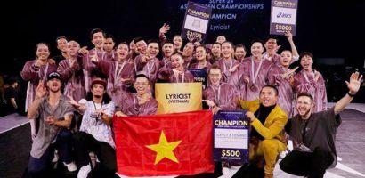 Nhóm nhảy Lyricist của Việt Nam thắng giải tại Singapore