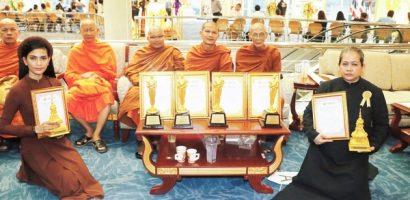 Á hậu Trương Thị May được vinh danh 'Người con của đức Phật' tại Thái Lan