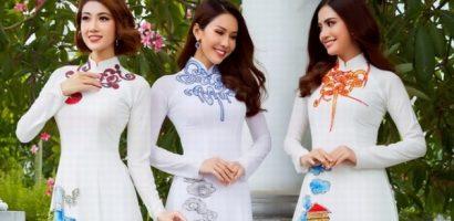 Phan Thu Quyên, Lê Sim và Huỳnh Nhi làm mẫu áo dài mùa Vu Lan 2019