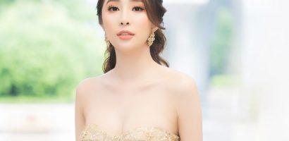 Quỳnh Nga diện váy khoe vòng 1 nóng bỏng ở sự kiện