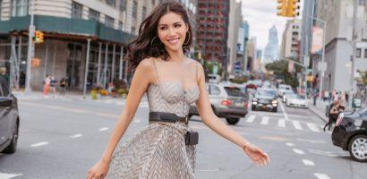 Minh Tú thả dáng đầy thu hút trên đường phố New York