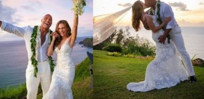 Siêu sao The Rock tiết lộ ảnh trong lễ cưới