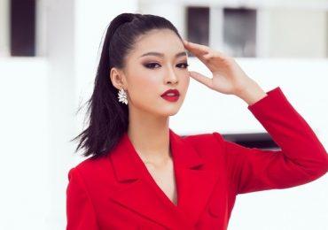 Diện vest đỏ cá tính, Á hậu Kiều Loan hát chay và ngày càng khẳng định nhan sắc