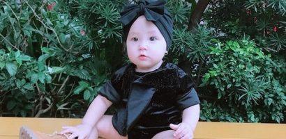 Mới 1 tuổi, con gái Trà Ngọc Hằng đã có gu thời trang sành điệu