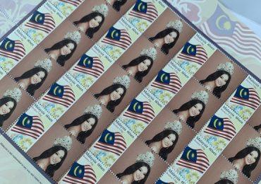 Hoa hậu Phương Khánh vinh dự được tôn vinh in tem bưu điện Malaysia