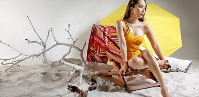 Tung ảnh bikini 'lạc mùa', Quỳnh Nga lại gây chú ý vì body quá mướt mắt