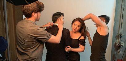 Dương Triệu Vũ 'ngáp dài' đợi Minh Tuyết 'trường kỳ chỉnh tóc' trong hậu trường chụp ảnh