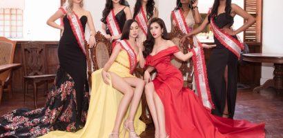 Dương Yến Nhung chiếm spotlight khi diện váy đỏ khoe vẻ đẹp gợi cảm cùng dàn thí sinh