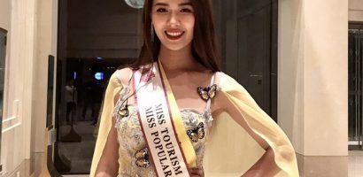 Tường Vy đạt danh hiệu 'Hoa hậu Du lịch Thế giới 2019' được yêu thích nhất