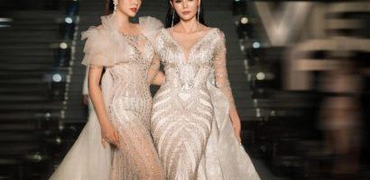 Đặng Thu Thảo, Kim Nguyên diện váy dài hơn 30m diễn thời trang