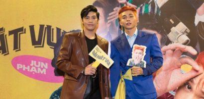 Noo Phước Thịnh, Ngô Kiến Huy bất ngờ đến chúc mừng Jun Phạm ra mắt MV