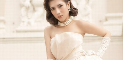 Hoa hậu Dương Yến Nhung hoá cô nàng cổ điển