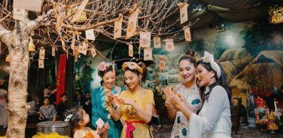 Dàn mỹ nhân Việt hội tụ trong tiệc du xuân truyền thống của Vũ Thu Phương
