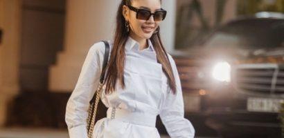 Diễn viên Trang Lê diện street style đơn giản dạo phố