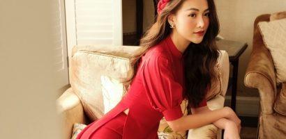 Phương Khánh nền nã trong tà áo dài đón Xuân 2020