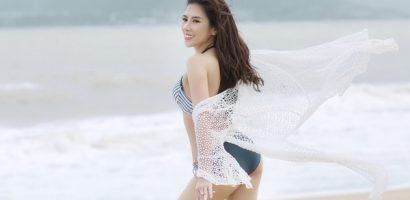 Hoa hậu Dương Yến Nhung khoe vẻ đẹp sexy ngày đầu năm mới